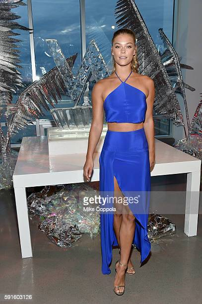 Model Nina Agdal attends the W Hotel party to celebrate the opening of W Dubai on August 17 2016 in New York City