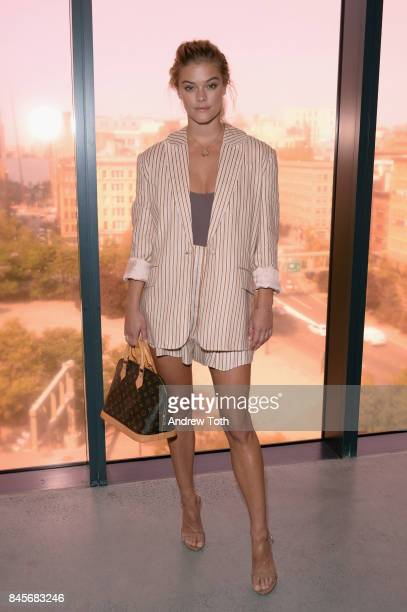 Model Nina Agdal attends Zimmermann fashion show during New York Fashion Week The Shows at Spring Studios on September 11 2017 in New York City