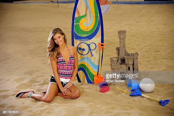 Model Nina Agdal poses as Op Nina Agdal Chandler Parsons kick off Spring on March 31 2014 in New York City