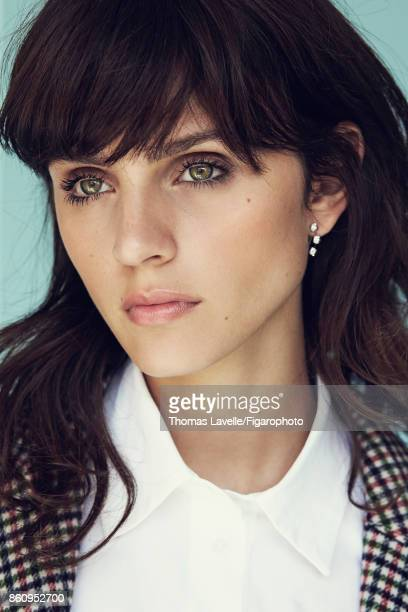 Model poses at a fashion shoot for Madame Figaro on July 17 2017 in Paris France Coat shirt earring PUBLISHED IMAGE CREDIT MUST READ Thomas...