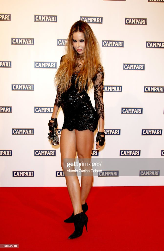 Model Nina Moric attends the Club Campari, 2009 Campari Calendar launch at La Permanente on December 2, 2008 in Milano, Italy.