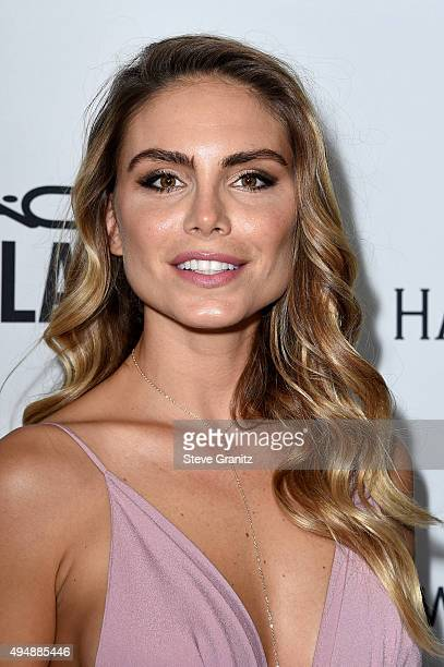 Model Nina Senicar attends amfAR's Inspiration Gala Los Angeles at Milk Studios on October 29 2015 in Hollywood California