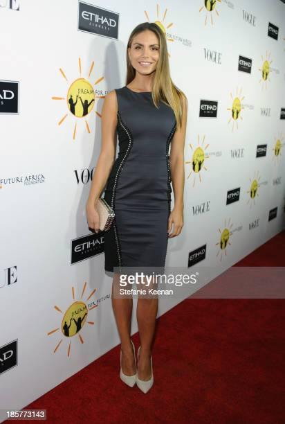 Model Nina Senicar attends Dream for Future Africa Foundation Inaugural Gala honoring Franca Sozzani of VOGUE Italia at Spago on October 24 2013 in...