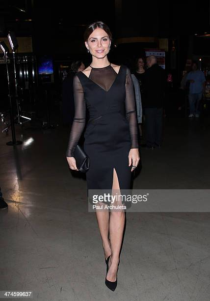 model Nina Senicar attends the 9th annual Los Angeles Italia Film Fashion and Art Fest opening night gala at the TLC Chinese 6 Theatres on February...