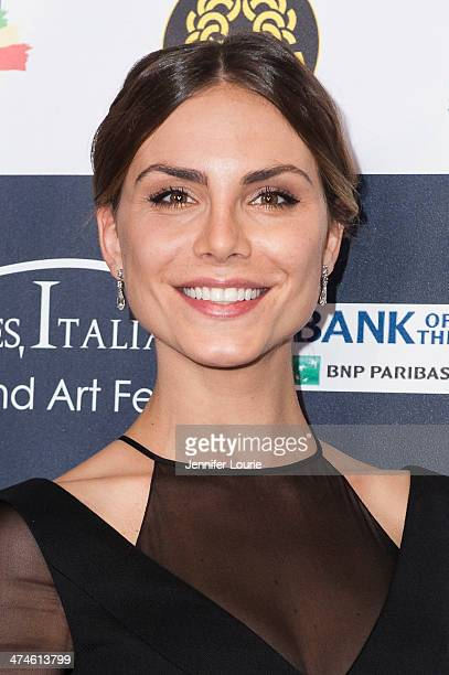Model Nina Senicar attends the 9th annual Los Angeles Italia Film Fashion and Art Fest opening night ceremony held at TLC Chinese 6 Theatres on...
