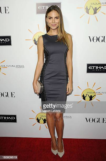 Model Nina Senicar attends the Dream For Future Africa Foundation gala at Spago on October 24 2013 in Beverly Hills California