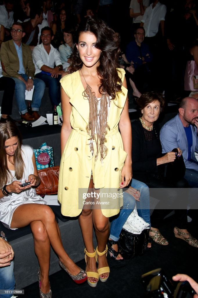 Model Noelia Lopez attends a fashion show during the Mercedes Benz Madrid Fashion Week Spring/Summer 2013 at Ifema on September 1 2012 in Madrid Spain