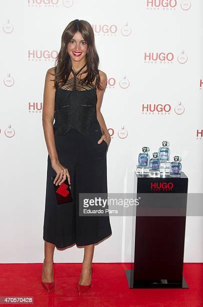 Model Noelia Lopez attends Hugo Boss Woman fragrance presentation photocall at Matadero Madrid on April 21 2015 in Madrid Spain