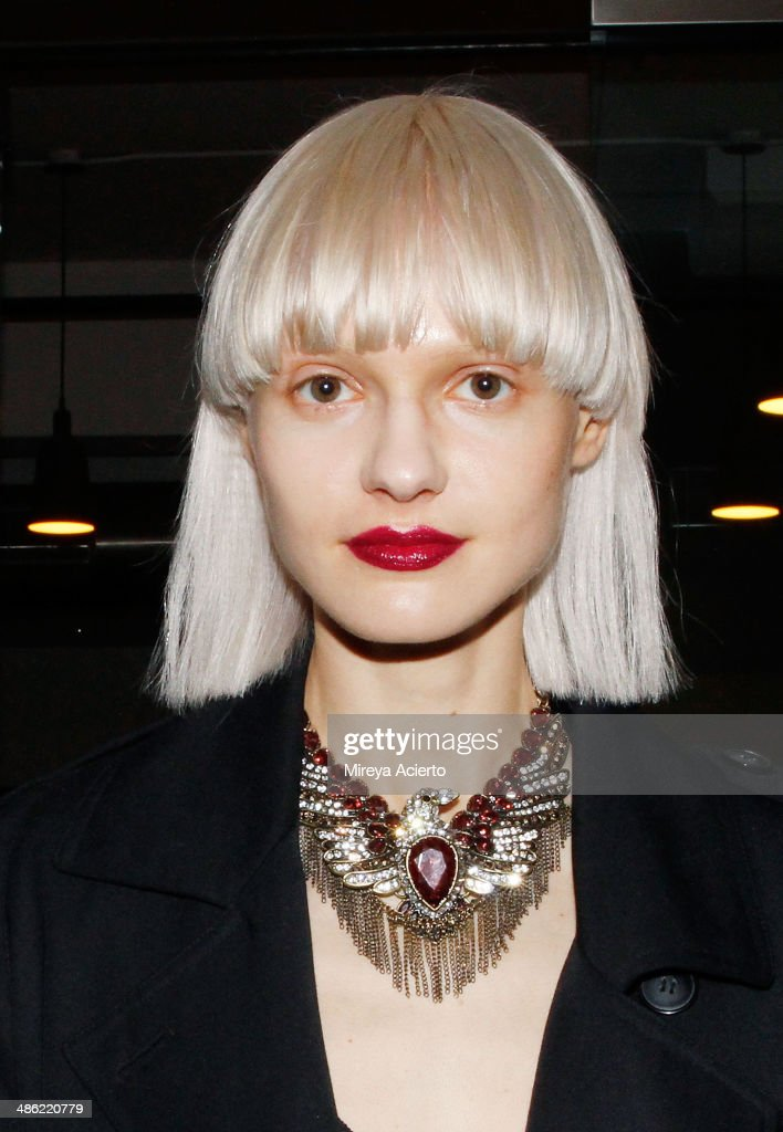 Model Nora Vai attends the opening night of Dog Dance By Brad Elterman at Milk Studios on April 22, 2014 in New York City.