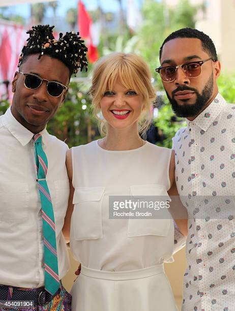 Model Norris Ford comedian Arden Myrin and comedian Tone Bell attend the HBO Luxury Lounge featuring PANDORA at Four Seasons Hotel Los Angeles at...