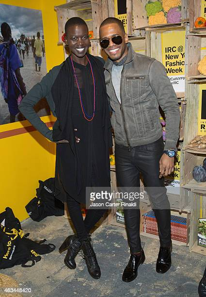 Model Nykhor Paul and Eric West attend IRC Fashion Week PopUp and Photo Exhibition at Empire Hotel on February 14 2015 in New York City