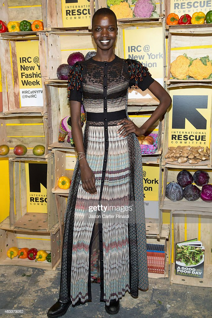 Model Nykhor Paul attends IRC Fashion Week PopUp and Photo Exhibition at Empire Hotel on February 13 2015 in New York City