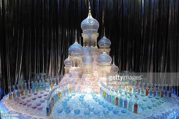 A model of a sculpture from the 'Yule Ball' during a preview of the Warner Bros Harry Potter studio tour 'The Making of Harry Potter' in north London...