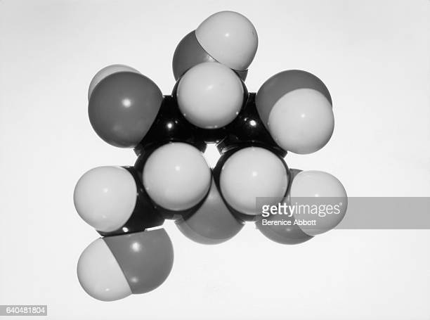 Model of a sugar molecule using different colored balls to represent carbon hydrogen and oxygen Massachusetts late 1950s Between 1958 and 1961 Abbott...