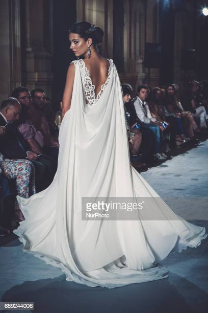 Model of Ivan Campaña pose on the catwalk in Seville Spain to May 26 2017 These days held in Seville the SIQ SEVILLE HANDCRAFT amp FASHION catwallk...
