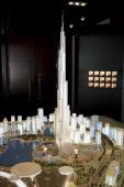 A model of the Burj Dubai at Modern Luxury at the Park Hyatt Hotel on December 5th 2005 in Dubai United Arab Emirates Modern Luxury is the...