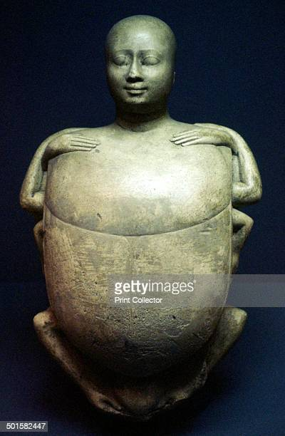 Model of the Egyptian scarabbeetle creatorgod Khepri from the Egyptian Museum in Berlin