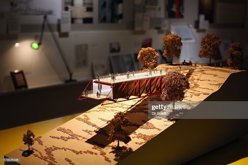 A model of the Gallery at Chateau la Coste in the exhibition 'Richard Rogers