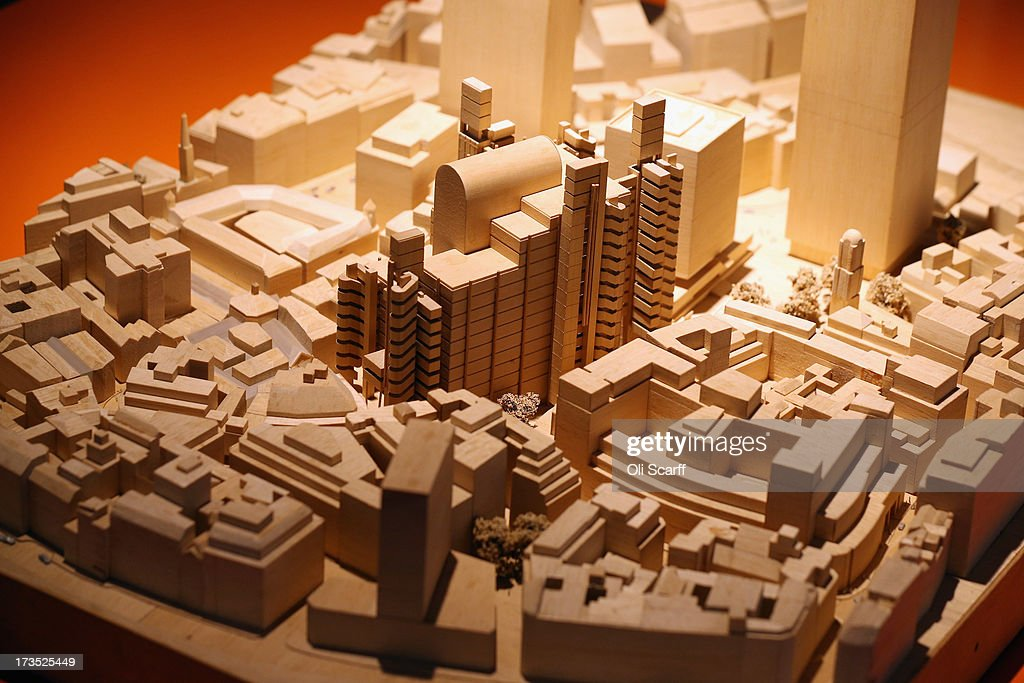 A model of the Lloyds building in the exhibition 'Richard Rogers