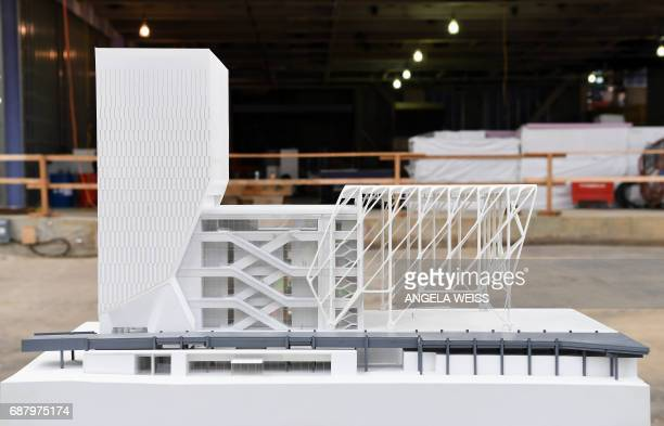 A model of The Shed New York's new center for artistic invention on May 24 2017 in New York City The facility is expected to open in 2019 and it will...