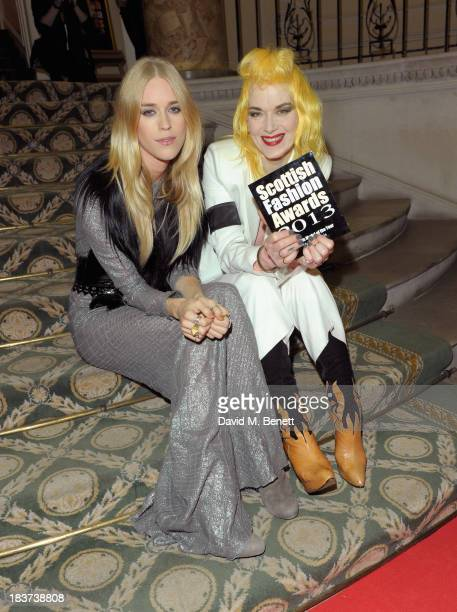 Model of the Year Mary Charteris and Pam Hogg winner of the Creative Excellence award pose at the Scottish Fashion Invasion of London at the 8th...