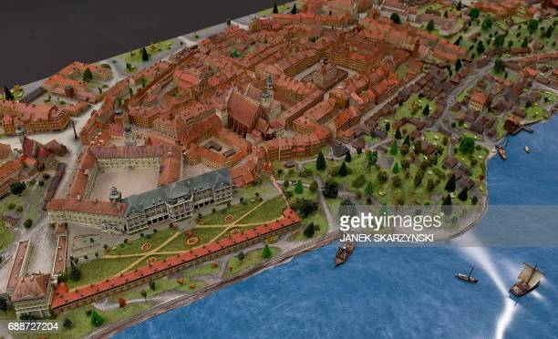 Model of Warsaw in the 18th century at the Museum of Warsaw which reopens after four years of renovation and redesign on May 26 2017 The new main...