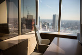 A model office used to exhibit what a business space could look like is seen on the 63rd floor of One World Trade Center which opens for business...