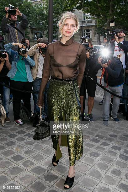 Model Ola Rudnicka attends the Vogue Foundation Gala 2016 at Palais Galliera on July 5 2016 in Paris France