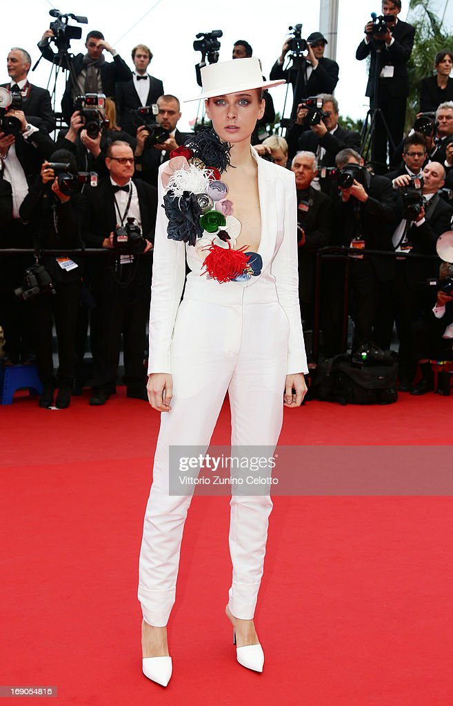 Model Olga Sorokina attends 'Inside Llewyn Davis' Premiere during the 66th Annual Cannes Film Festival at Palais des Festivals on May 19, 2013 in Cannes, France.