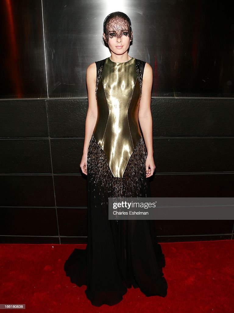 Model Olga Sorokina attends the New Yorker's For Children's 10th Anniversary A Fool's Fete Spring Dance at Mandarin Oriental Hotel on April 9, 2013 in New York City.
