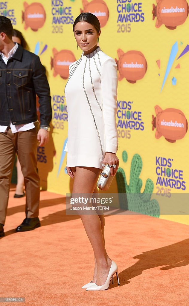 Model <a gi-track='captionPersonalityLinkClicked' href=/galleries/search?phrase=Olivia+Culpo&family=editorial&specificpeople=9194131 ng-click='$event.stopPropagation()'>Olivia Culpo</a> attends Nickelodeon's 28th Annual Kids' Choice Awards held at The Forum on March 28, 2015 in Inglewood, California.