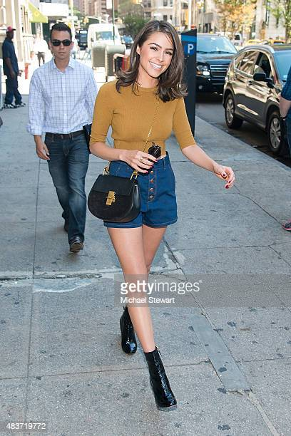 Model Olivia Culpo seen while visiting Manhattan on August 12 2015 in New York City