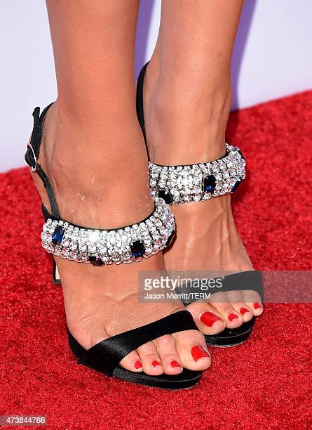 Model Olivia Culpo shoe detail attends the 2015 Billboard Music Awards at MGM Grand Garden Arena on May 17 2015 in Las Vegas Nevada