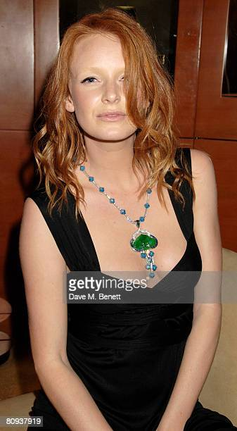 Model Olivia Inge models a million dollars worth of antique jade jewellery at the Avakian jade collection launch at Avakian on April 30 2008 in...