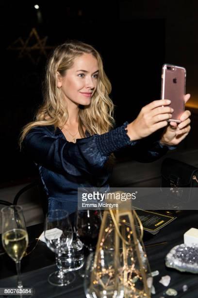 Model Olivia Jordan attends Logan Hollowell | Marvel Thor Ragnarok Collection Dinner at MILK Studios LA on October 12 2017 in Los Angeles California
