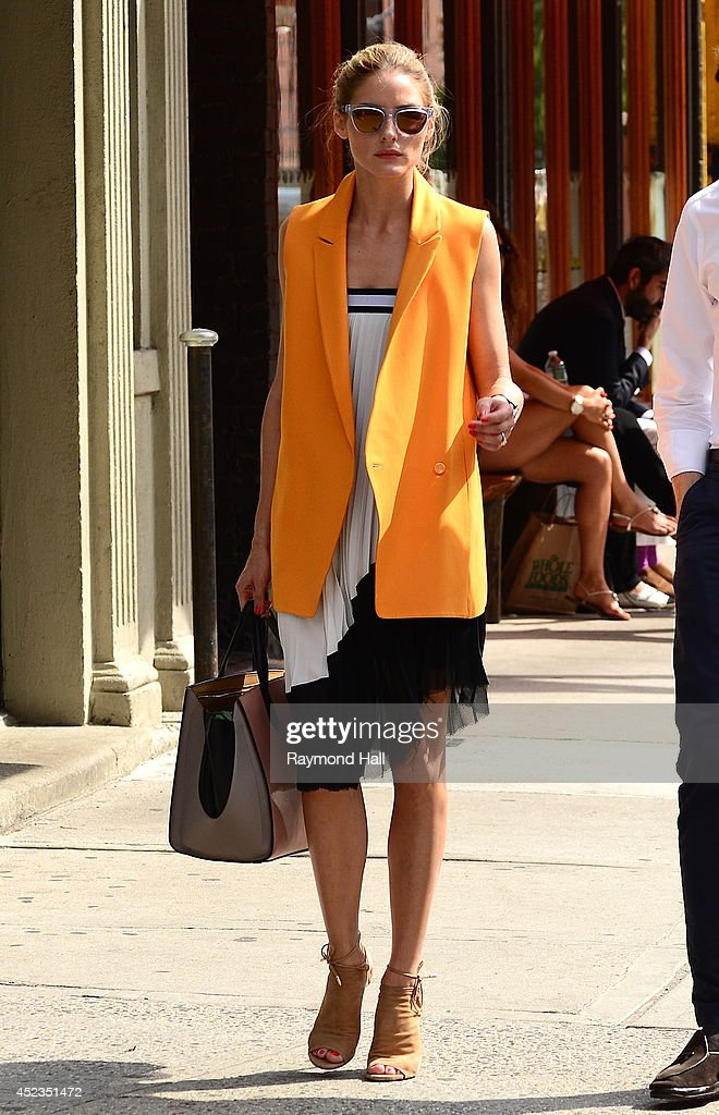 Model <a gi-track='captionPersonalityLinkClicked' href=/galleries/search?phrase=Olivia+Palermo&family=editorial&specificpeople=2639086 ng-click='$event.stopPropagation()'>Olivia Palermo</a> is seen walking in Soho on July 18, 2014 in New York City.