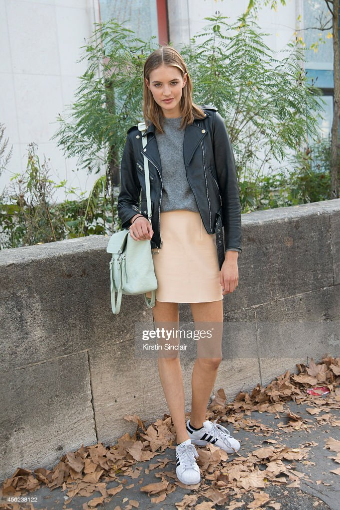 A model on day 4 of Paris Collections Women on September 26 2014 in Paris France
