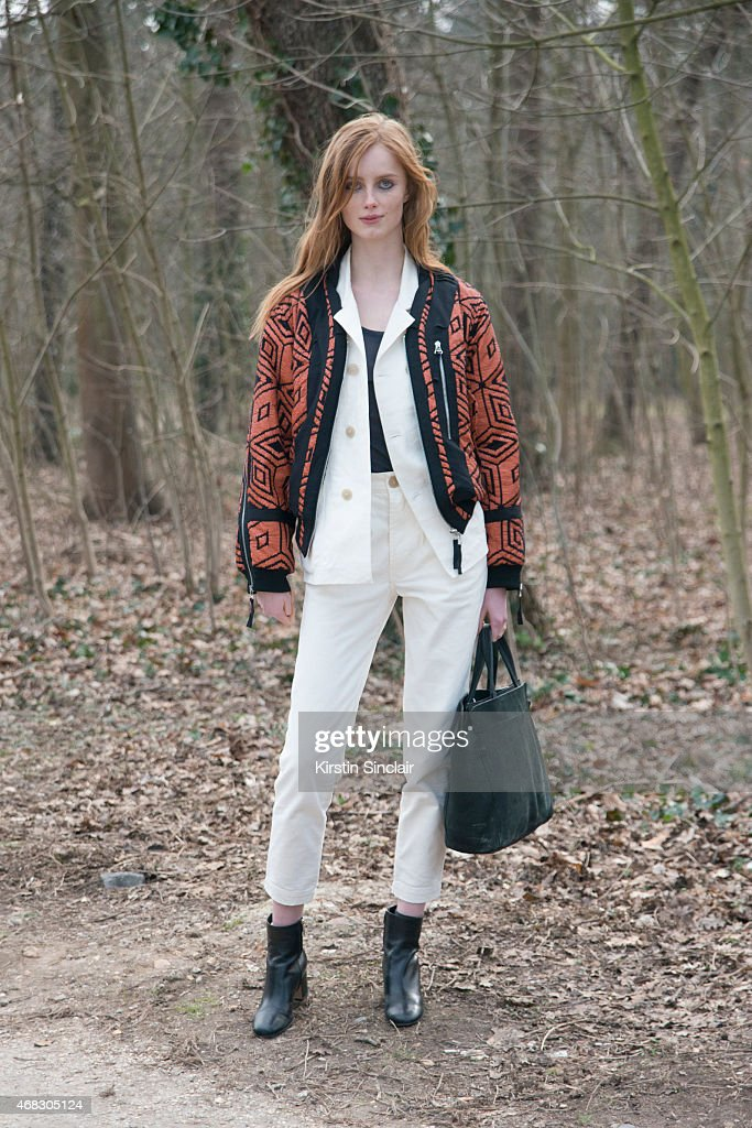 A model on day 9 of Paris Collections Women on March 11 2015 in Paris France