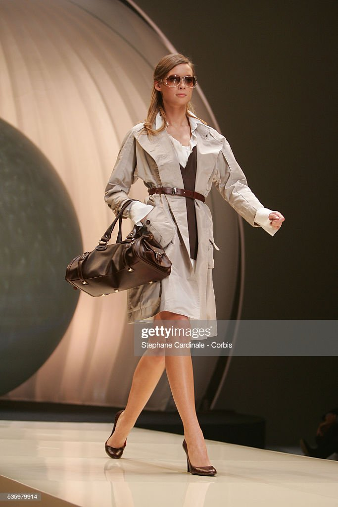 Model on the catwalk at the 'Celine ready-to-wear Spring-Summer 2006 collection' fashion show.