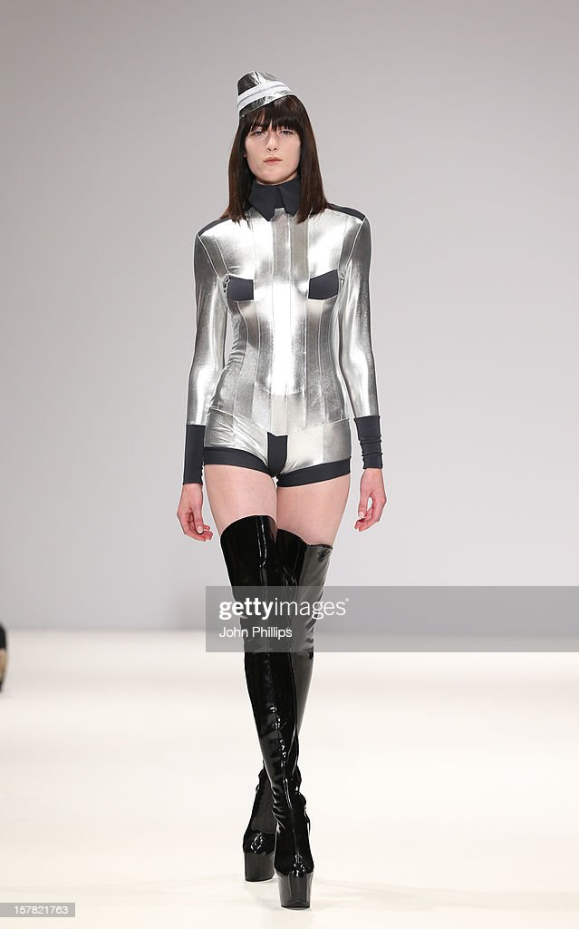 A Model On The Catwalk At The Pam Hogg Fashion Show, Held At The Vauxhall Fashion Scout Venue In Freemasons' Hall, As Part Of London Fashion Week.
