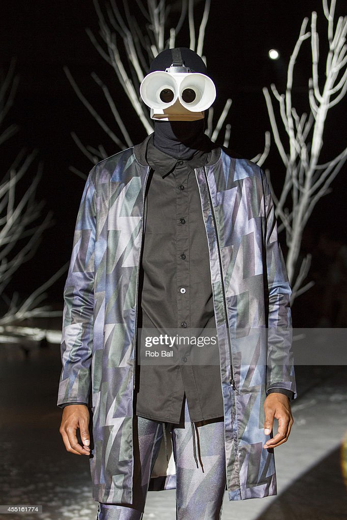 A model on the catwalk for Han Kjobenhavn at Copenhahen Fashion Week Spring/Summer 2015 on August 6, 2014 in Copenhagen, Denmark.