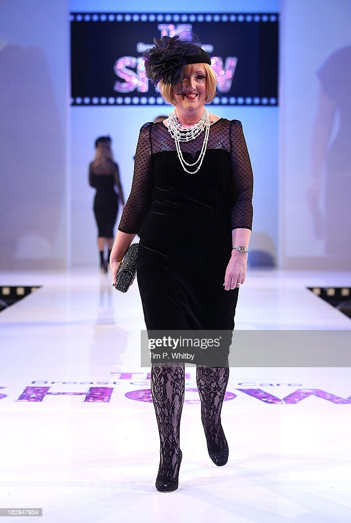 Model on the runway at the afternoon performance of the Breast Cancer Care Fashion Show at Grosvenor House, on October 2, 2013 in London, England.