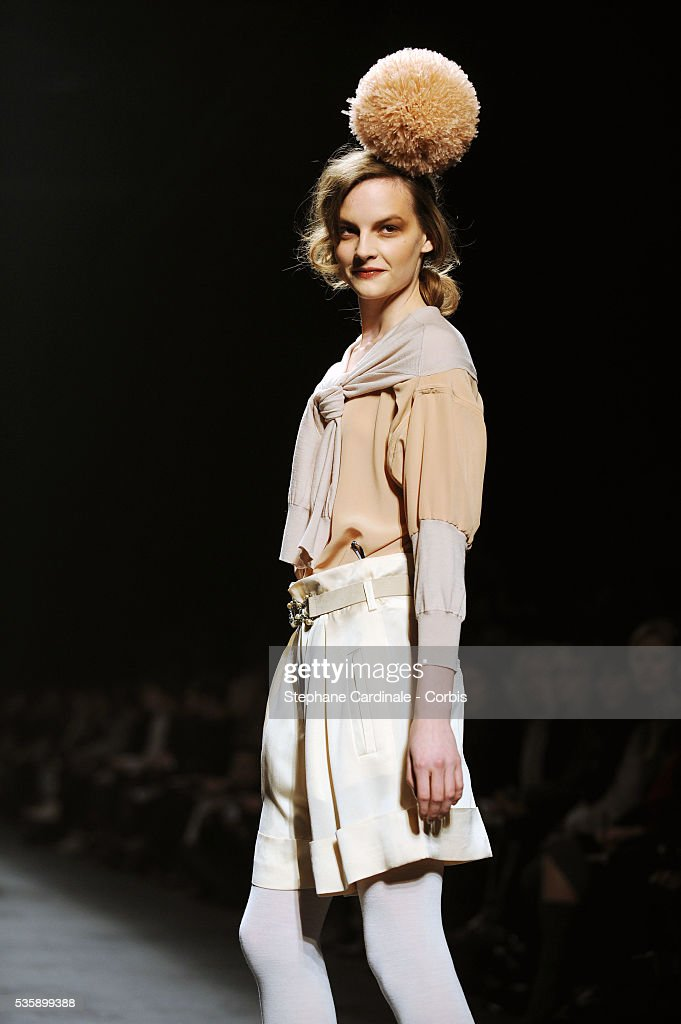 A model on the runway at the Sonia Rykiel Ready To Wear show, as part of the Paris Fashion Week Fall/Winter 2010-2011.