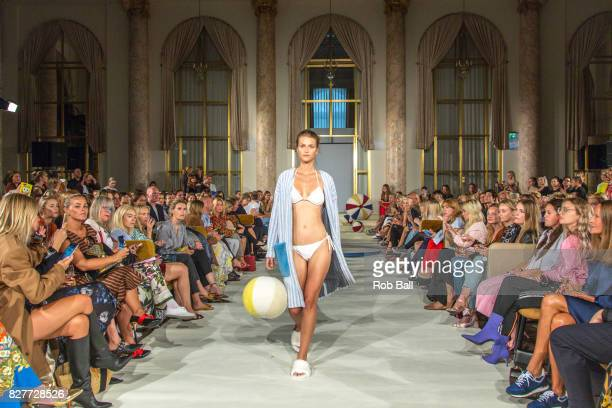 A model on the runway for designer Anne Vest during the Copenhagen Fashion Week Spring/Summer 2018 on August 8 2017 in Copenhagen Denmark