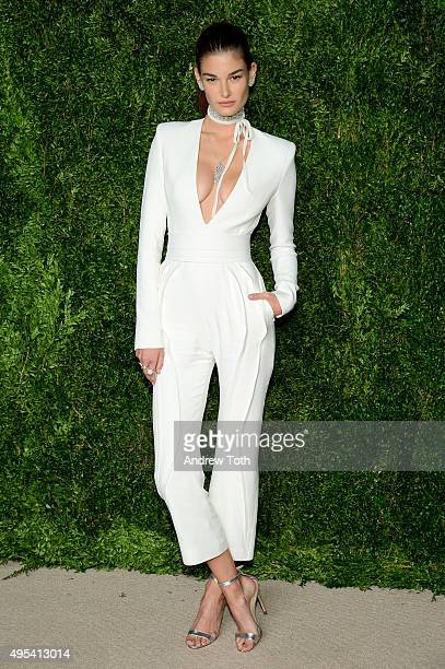 Model Ophelie Guillermand attends the 12th annual CFDA/Vogue Fashion Fund Awards at Spring Studios on November 2 2015 in New York City