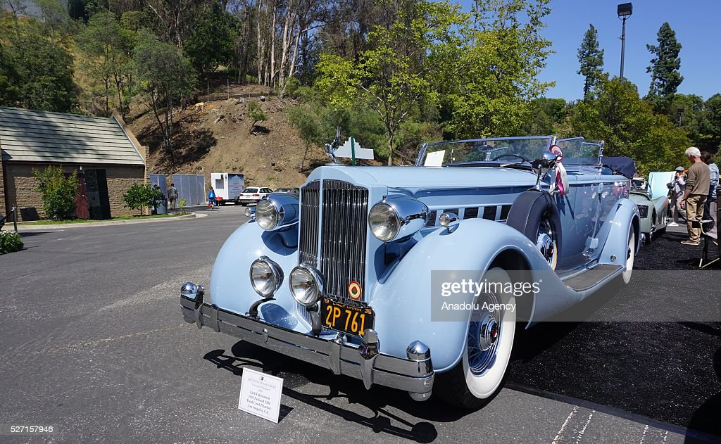 1935 model Packard 1204 is on display during Concours d'Elegance at Greystone Mansion in Beverly Hills, Los Angeles, USA, on May 2, 2016. 140 classic automobiles from 18 different categories are displayed during the Concours d'Elegance classic automobile show.