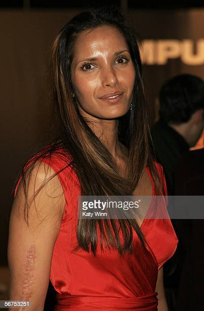 Model Padma Lakshmi attends Olympus Fashion Week Fall 2006 at Bryant Park February 05 2006 in New York City