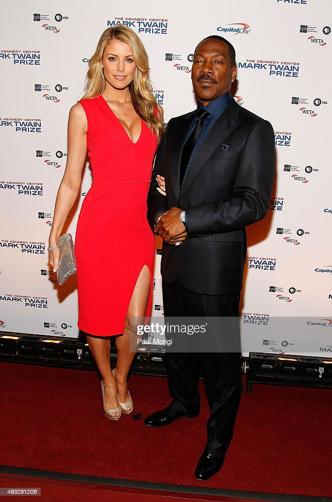 Model Paige Butcher and Mark Twain prize honoree Eddie Murphy attend the 18th Annual Mark Twain Prize for Humor at The John F. Kennedy Center for Performing Arts on October 18, 2015 in Washington, DC.