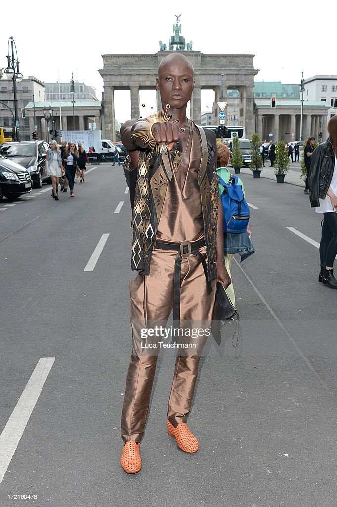 Model Papis Loveday attends the Rebekka Ruetz show during Mercedes-Benz Fashion Week Spring/Summer 2014 at Brandenburg Gate on July 2, 2013 in Berlin, Germany.