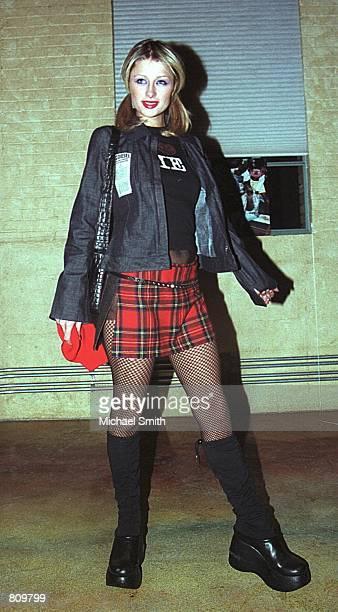 Model Paris Hilton arrives for a party January 24 2001 at the Sundance Film Festival in Park City UT
